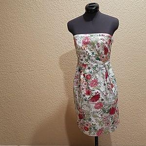 Old navy Botany Floral print strapless dress